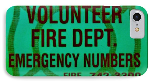 Valley Stream Fire Department In Irish Green Phone Case by Rob Hans