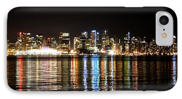 Vancouver Skyline At Night IPhone Case by JM Photography