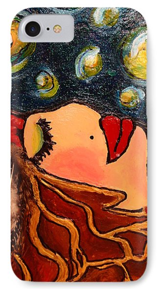 IPhone Case featuring the painting Vangogh Dreams Cropped Version by Laura  Grisham