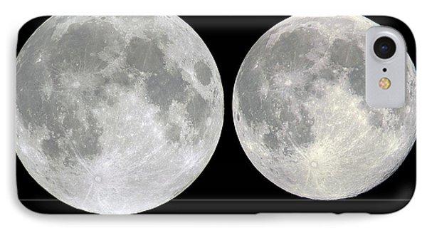 Variation In Apparent Lunar Diameter Phone Case by Laurent Laveder
