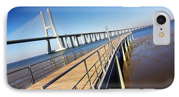 Vasco Da Gama Bridge Phone Case by Carlos Caetano