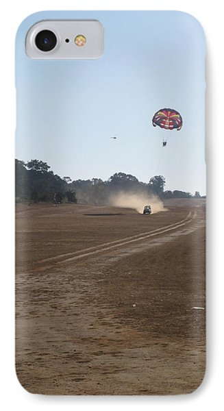 Vehicle Pulling A Couple Doing Tandem Parasailing Phone Case by Ashish Agarwal