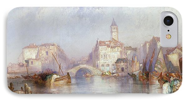 Venetian Canal IPhone Case by Thomas Moran