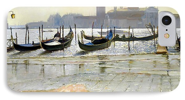 Venice At Dawn IPhone Case by Timothy Easton