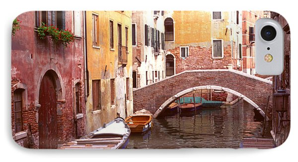 Venice Bridge Over A Small Canal. IPhone Case