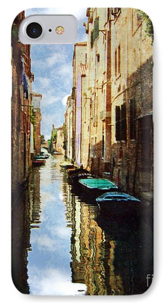 IPhone Case featuring the photograph Venice Canal by Deborah Smith