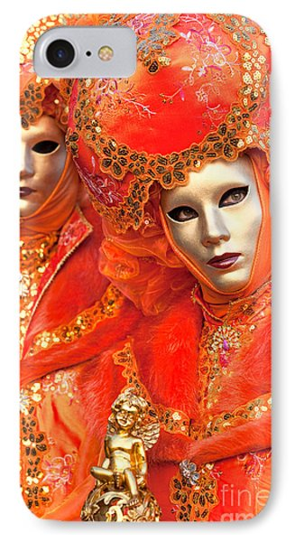 IPhone Case featuring the photograph Venice Masks by Luciano Mortula