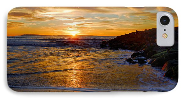IPhone Case featuring the photograph Ventura Beach Sunset by Lynn Bauer