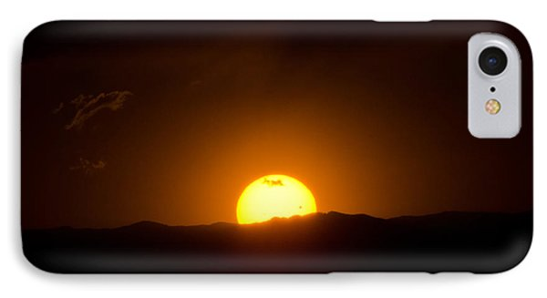 Venus Transit Setting Over The Rocky Mountains IPhone Case