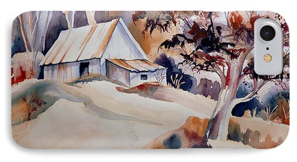 Vermont Sugar Shack Cabin In Winter Phone Case by Carole Spandau