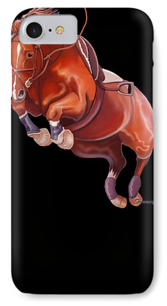 Very Free Jump On Course IPhone Case by Catherine Twomey