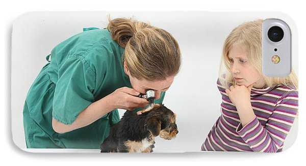 Vet Using An Otoscope To Examine A Pups Phone Case by Mark Taylor