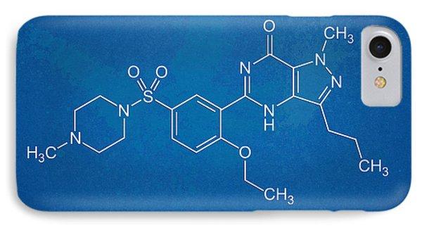 Viagra Molecular Structure Blueprint IPhone Case by Nikki Marie Smith