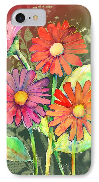 Vibrant Flowers IPhone Case by Arline Wagner