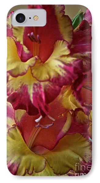 Vibrant Gladiolus Phone Case by Susan Herber