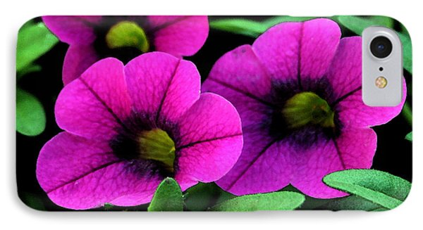 Vibrant Pink IPhone Case by Karen Harrison