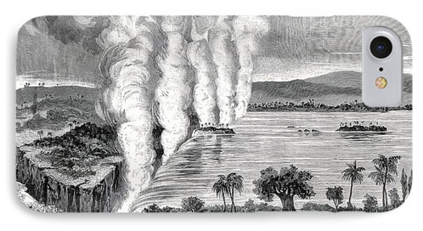 Victoria Falls, 19th Century Phone Case by Cci Archives