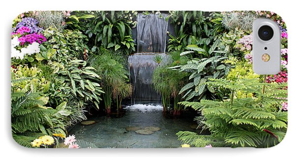 Victorian Garden Waterfall - Digital Art Phone Case by Carol Groenen