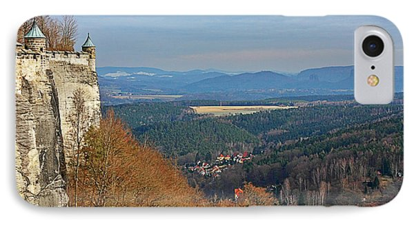View From Koenigstein Fortress Germany Phone Case by Christine Till