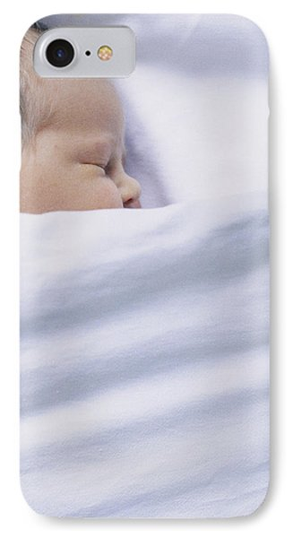 View Of A Premature Baby Asleep In A Cot IPhone Case by Mauro Fermariello