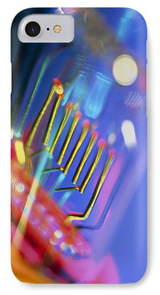 View Of A Technical Electric Light Bulb Phone Case by Tek Image