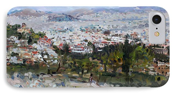 View Of Athens From Acropolis IPhone Case by Ylli Haruni