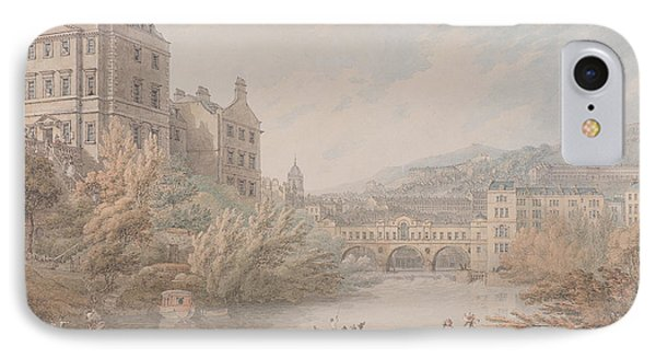 View Of Bath From Spring Gardens  IPhone Case by Thomas Hearne