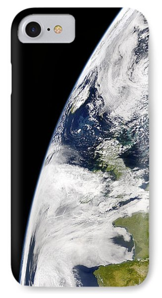 View Of Earth From Space Showing Phone Case by Stocktrek Images