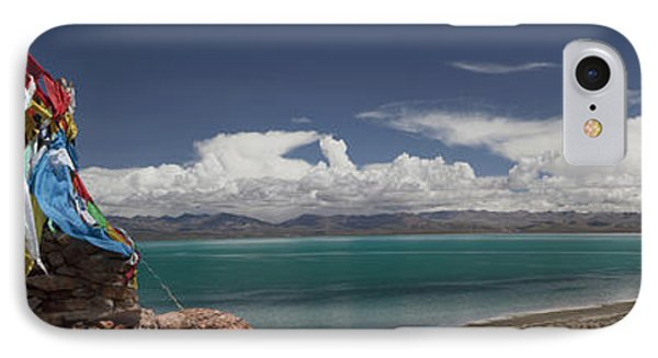View Of Freshwater Lake Manasarovar Phone Case by Phil Borges