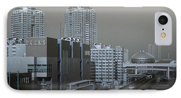 View Of Modern Tokyo IPhone Case by Naxart Studio