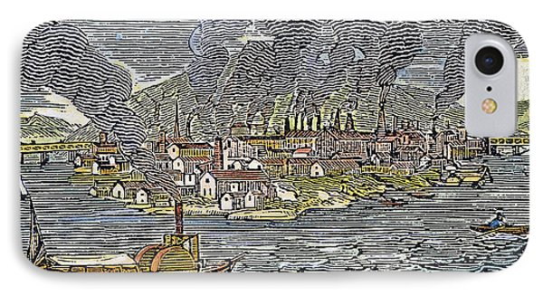 View Of Pittsburgh, 1836 Phone Case by Granger