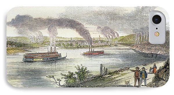 View Of Pittsburgh, 1853 Phone Case by Granger