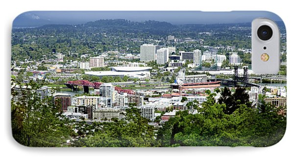 View Of Portland Oregon From Pittock Mansion  Phone Case by Sherry  Curry