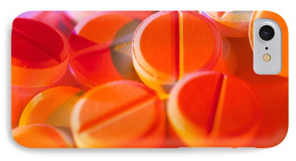View Of Several Scored Paracetamol Tablets Phone Case by Steve Horrell