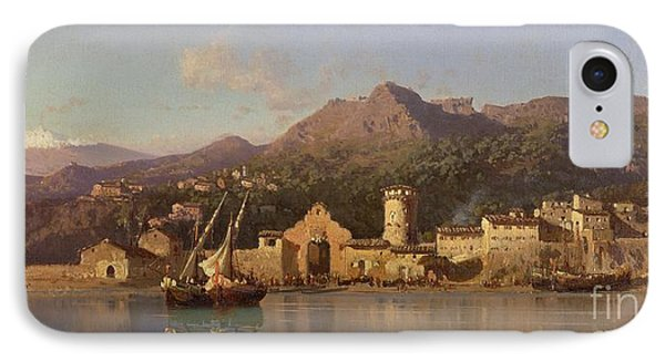 View Of Taormina Sicily Phone Case by Alessandro la Volpe