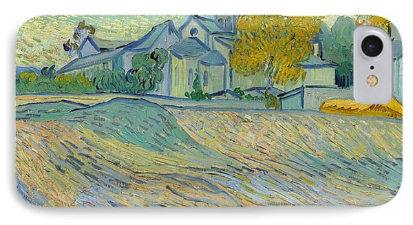 View Of The Asylum And Chapel At Saint Remy Phone Case by Vincent Van Gogh