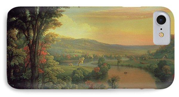 View Of The Mohawk Near Little Falls Phone Case by Mannevillette Elihu Dearing Brown