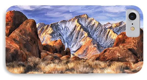 View Of The Sierras Phone Case by Dominic Piperata