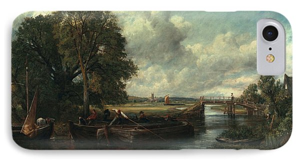 View Of The Stour Near Dedham Phone Case by John Constable