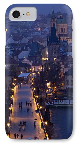 View Over The Charles Bridge Towards Phone Case by Axiom Photographic
