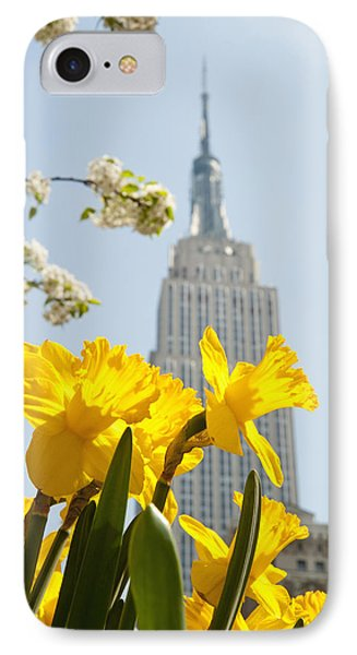 Views Of The Empire State Building And Phone Case by Axiom Photographic