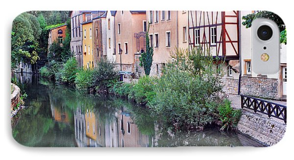 Village Reflections In Luxembourg I Phone Case by Greg Matchick