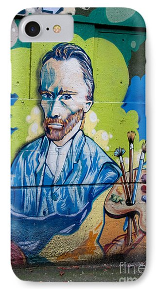 IPhone Case featuring the digital art Vincent On The Wall by Carol Ailles