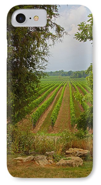 IPhone Case featuring the photograph Vineyard On The Bench by John Stuart Webbstock