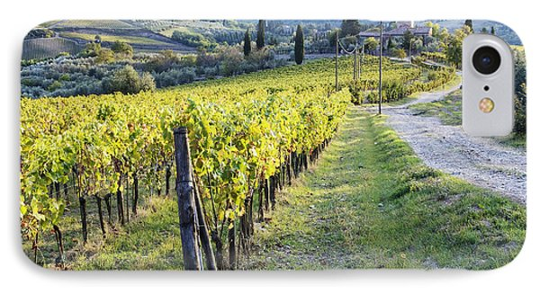 Vineyards And Farmhouse IPhone Case by Jeremy Woodhouse