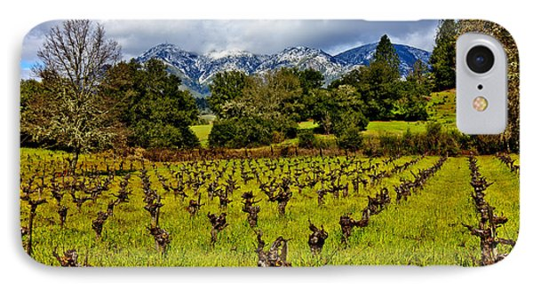 Vineyards And Mt St. Helena Phone Case by Garry Gay