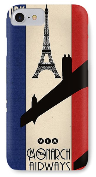 Vintage Air Travel Paris Phone Case by Cinema Photography