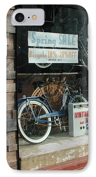 Vintage Bicycle And American Junk  IPhone Case