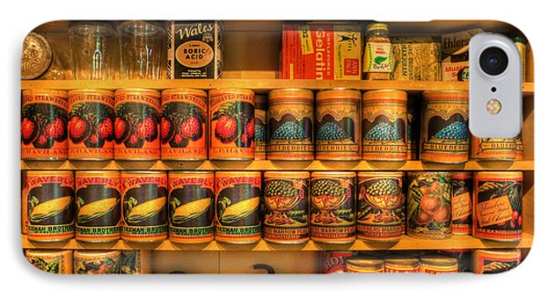 Vintage Canned Goods - General Store Vintage Supplies - Nostalgia IPhone Case by Lee Dos Santos