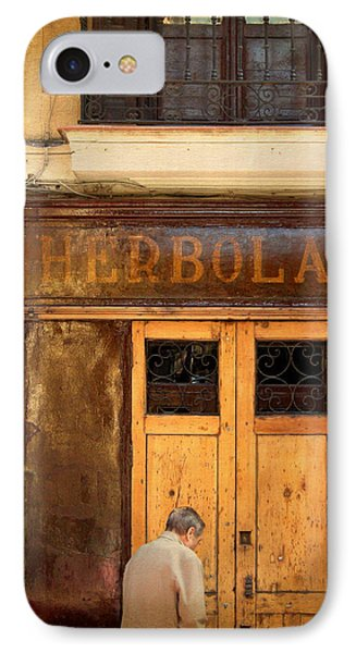 Vintage Facade In Madrid IPhone Case by Perry Van Munster